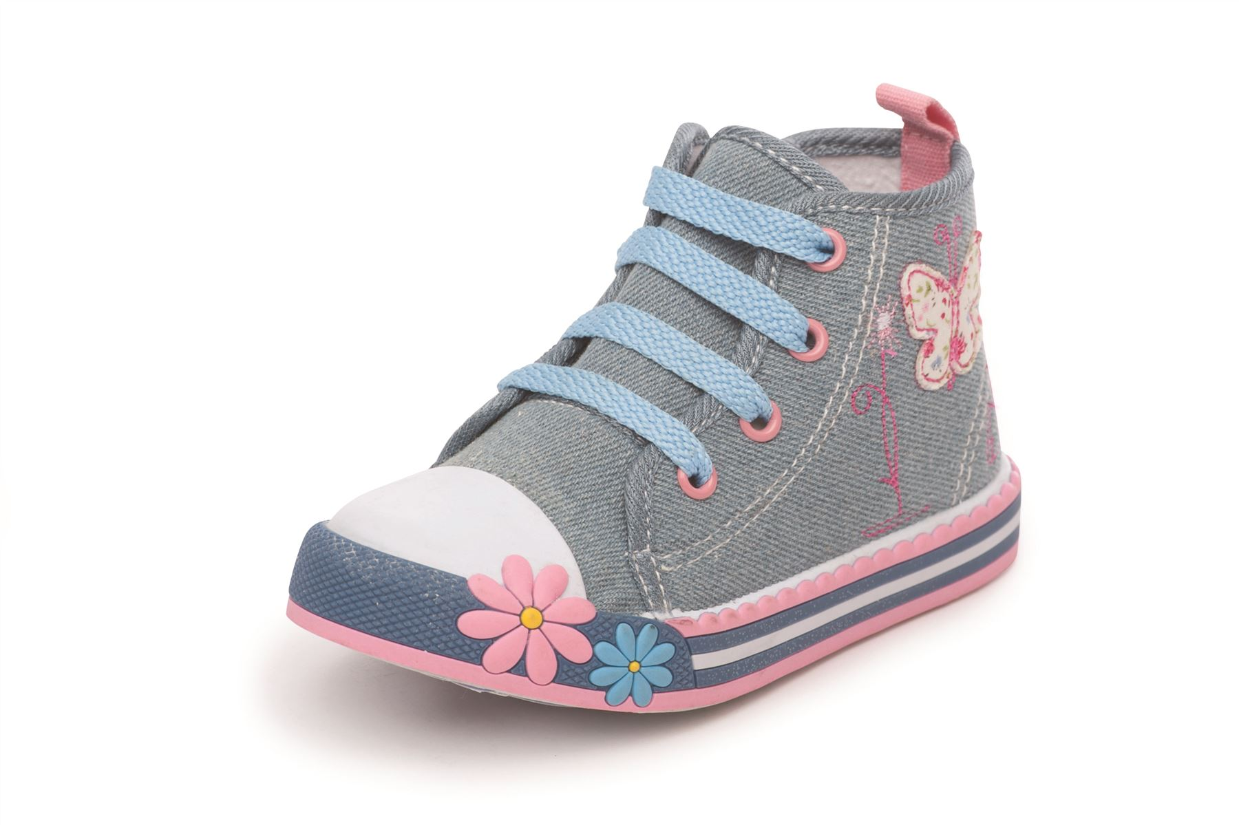 GIRLS HIGH TOPS KIDS TRAINERS INFANTS - 155.8KB