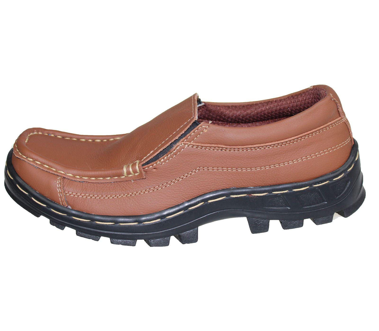 Para Hombre chicos leves confort de cuero Botas Casual Plana Slipon senderismo Zapatos Para Caminar Nuevo