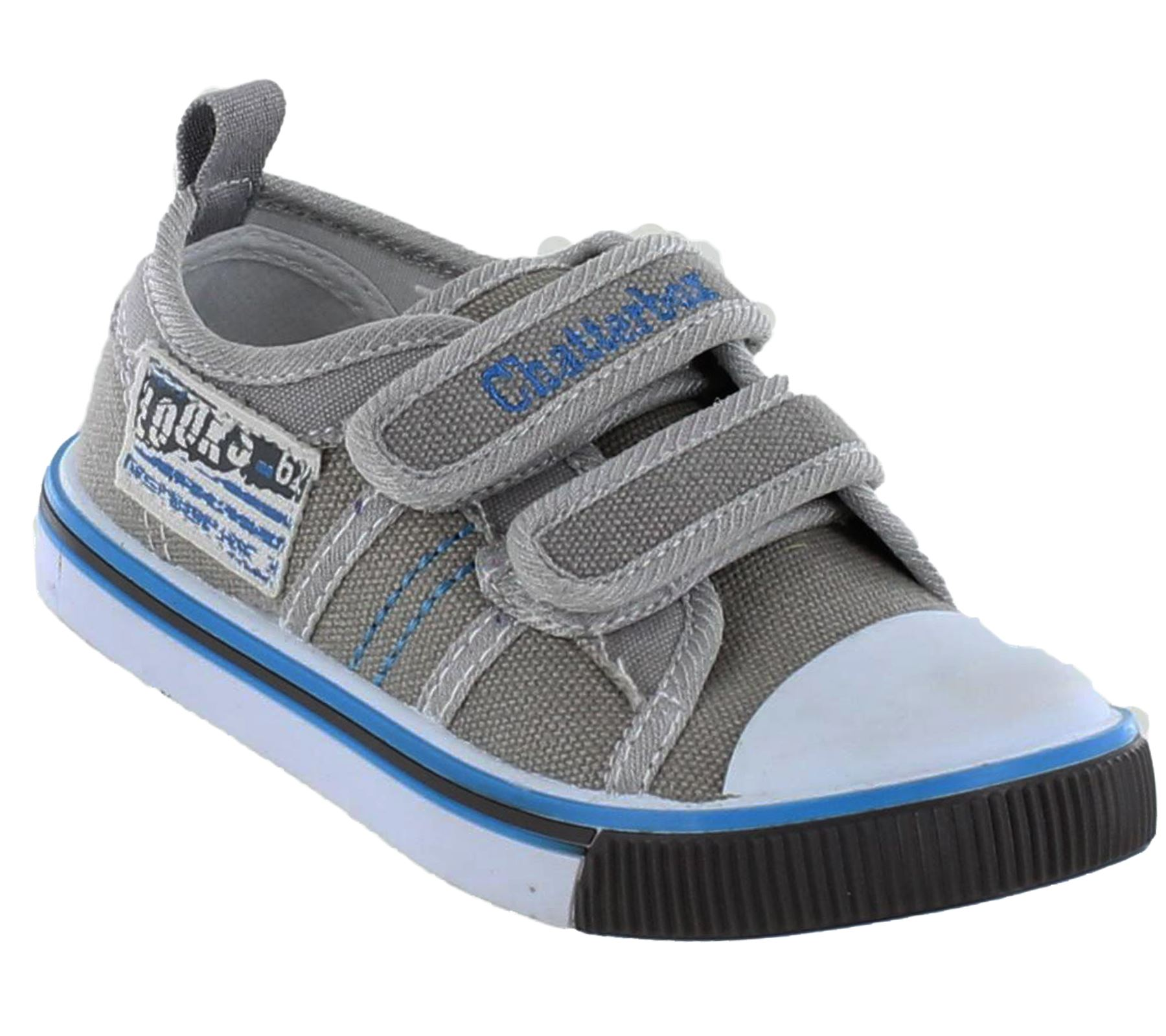 boys velcro trainers infants canvas plimsoles pumps