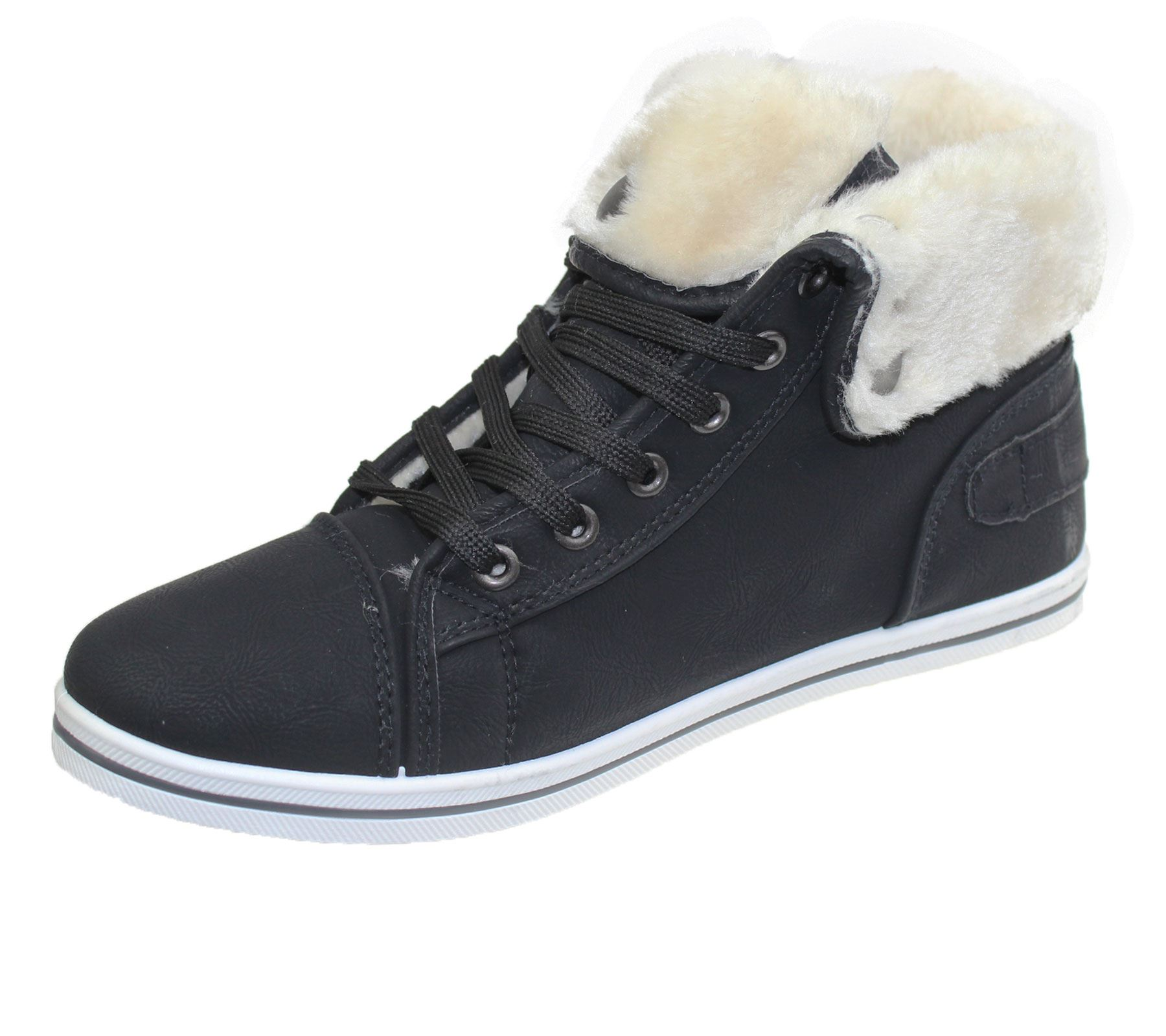 Girls-Boots-Womens-Warm-Lined-High-Top-Ankle-Trainer-Ladies-Winter-Shoes-Size miniatura 83