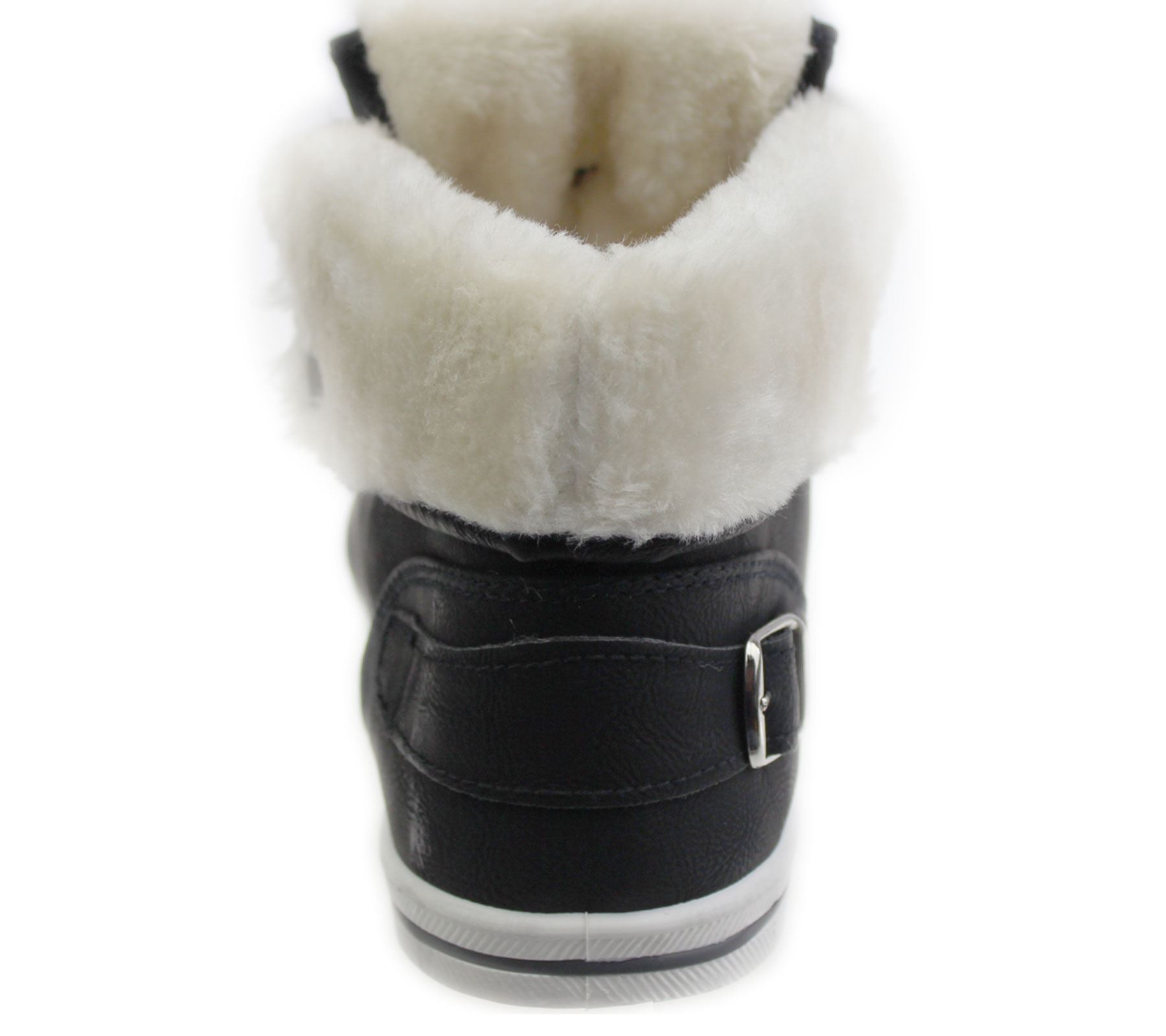 Girls-Boots-Womens-Warm-Lined-High-Top-Ankle-Trainer-Ladies-Winter-Shoes-Size miniatura 86