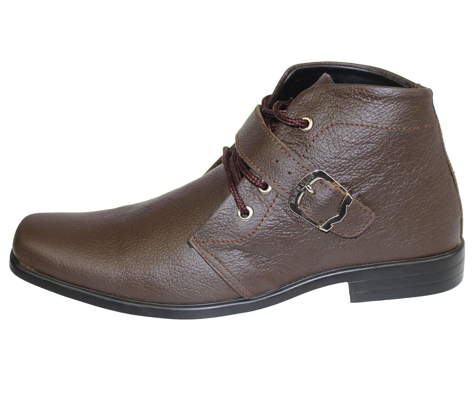 mens mild leather smart ankle boots chelsea work office