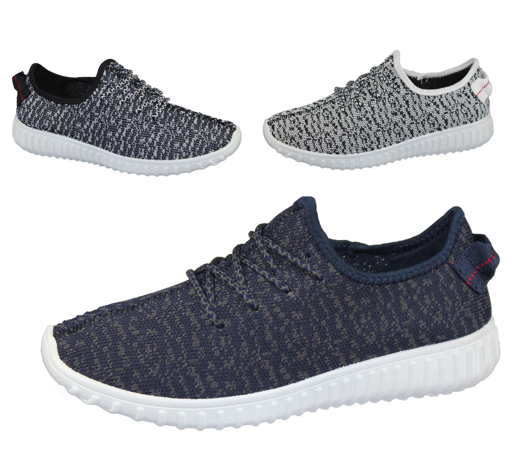 Mens Lace Up Yeezy Trainer Comfort Sports Casual Fashion Inspired Walking Shoes