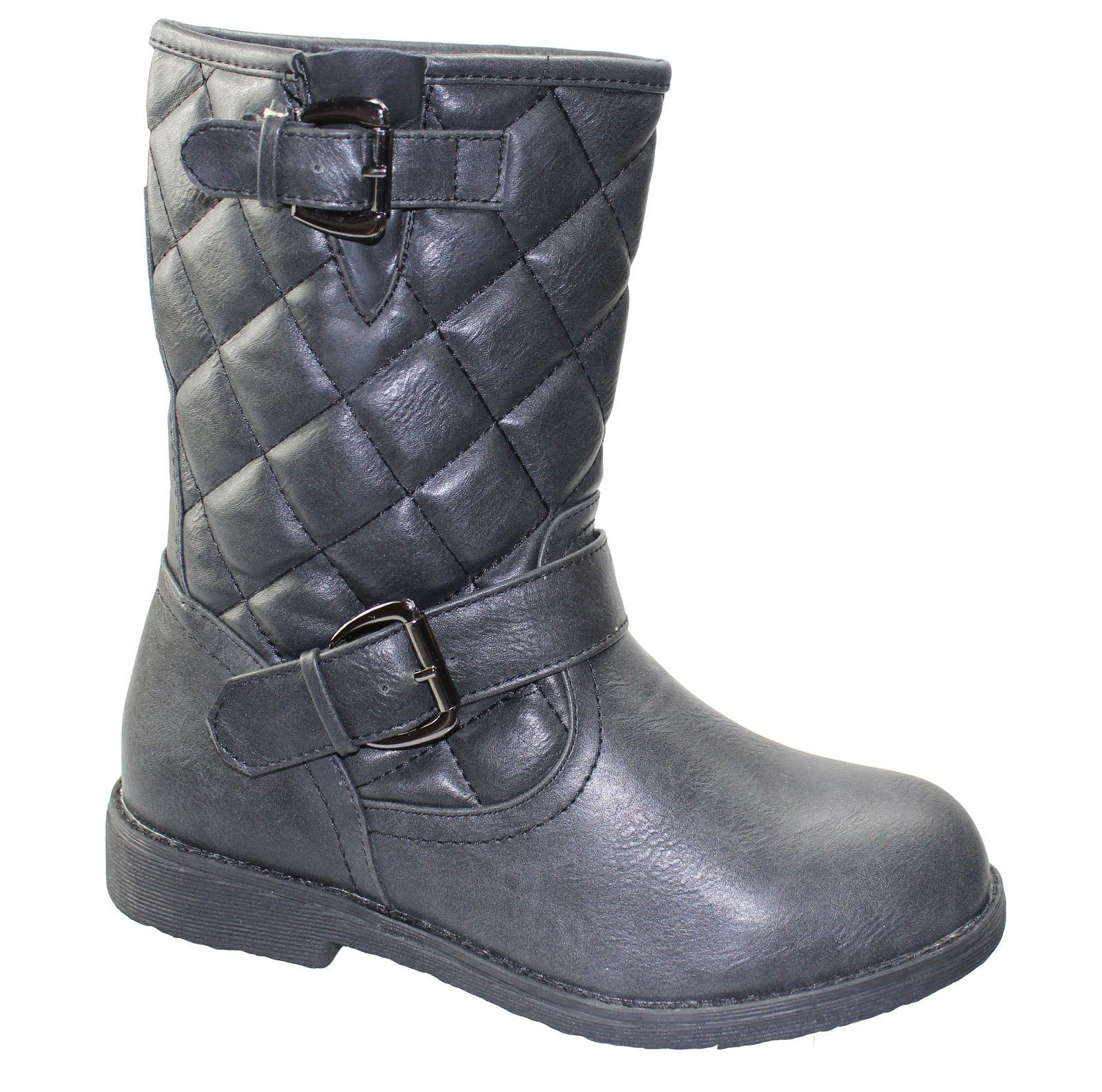 womens boots winter warm cozy snow quilted biker
