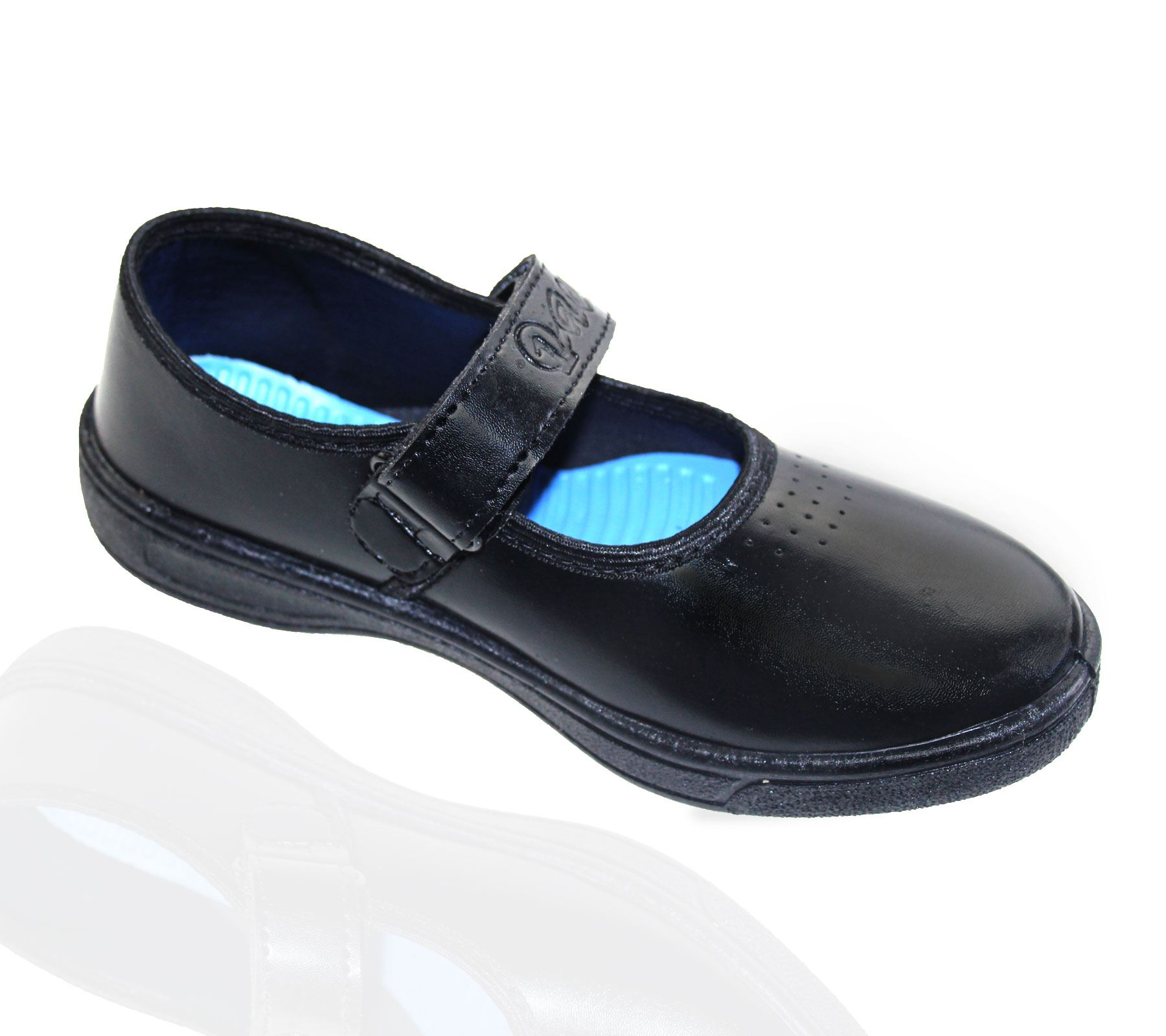 KOLLACHE Girls School Shoes Casual Formal Black Flats ...