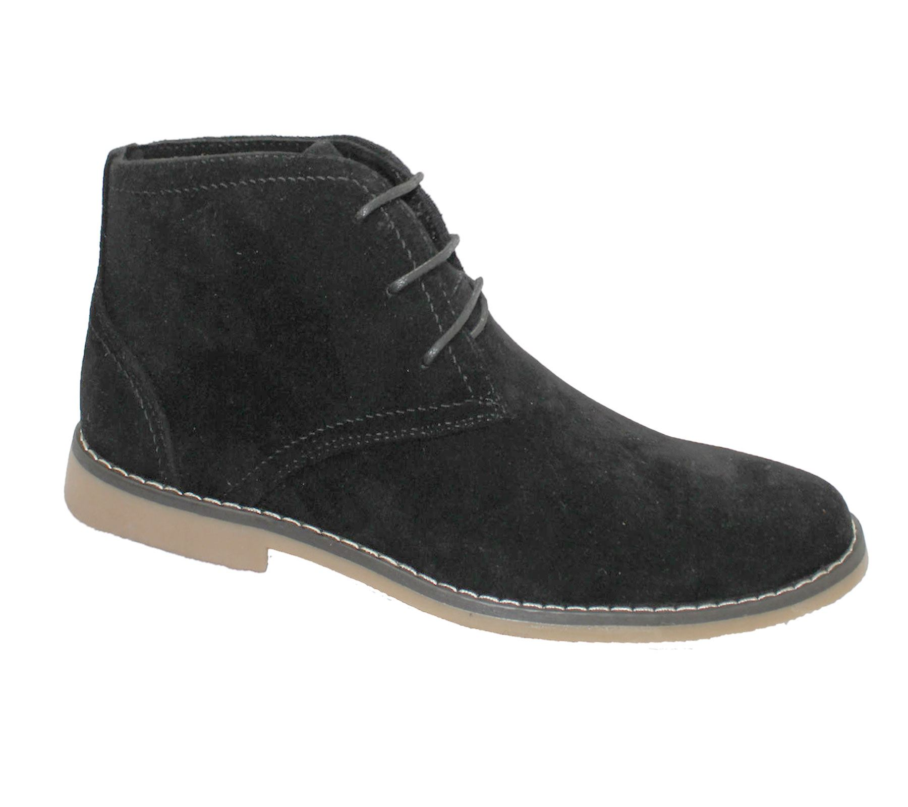 mens suede desert boots winter ankle high top classic