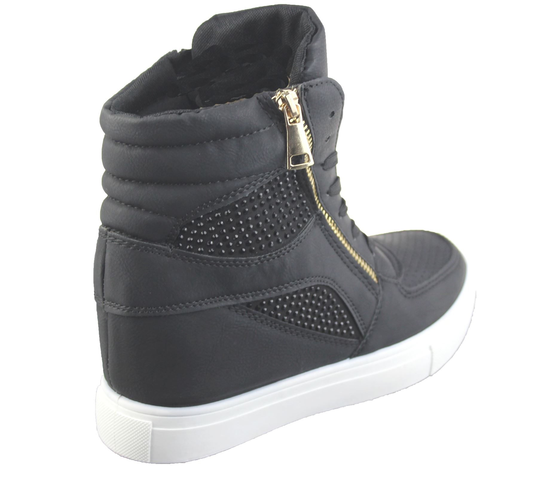 Womens Wedge Trainers Ladies Ankle Boots Sneakers Girl ...