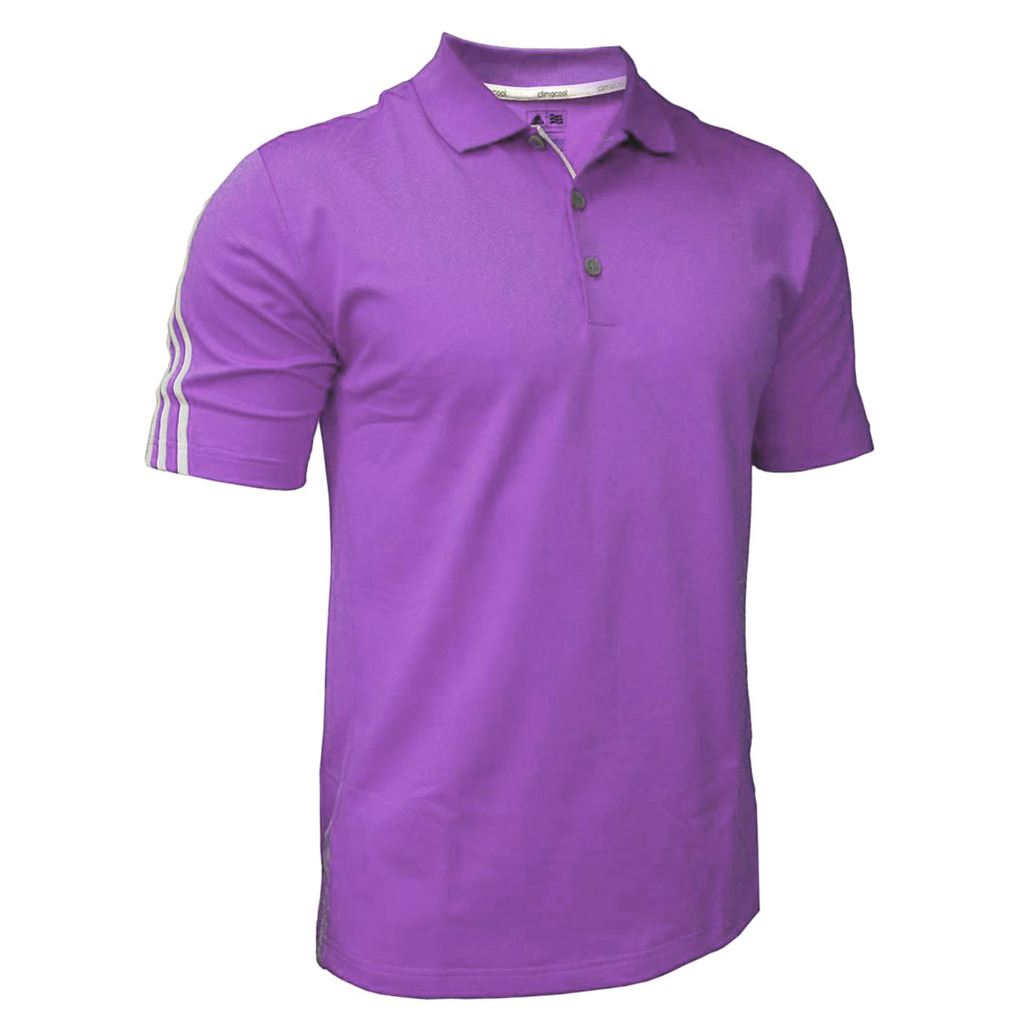 sale adidas golf climacool 3 stripes mens performance golf polo shirt ebay. Black Bedroom Furniture Sets. Home Design Ideas