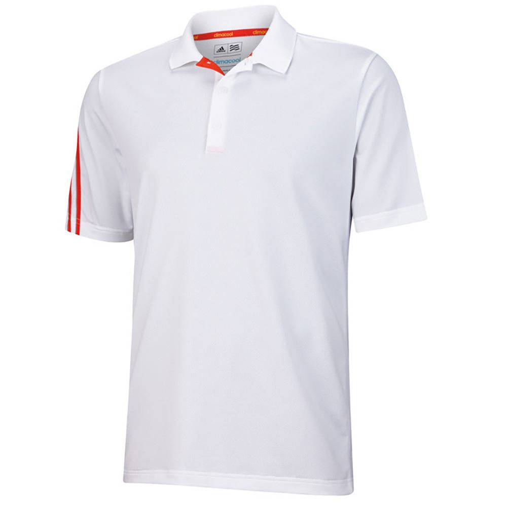 Sale adidas golf climacool 3 stripes mens performance for Polo golf shirts for men