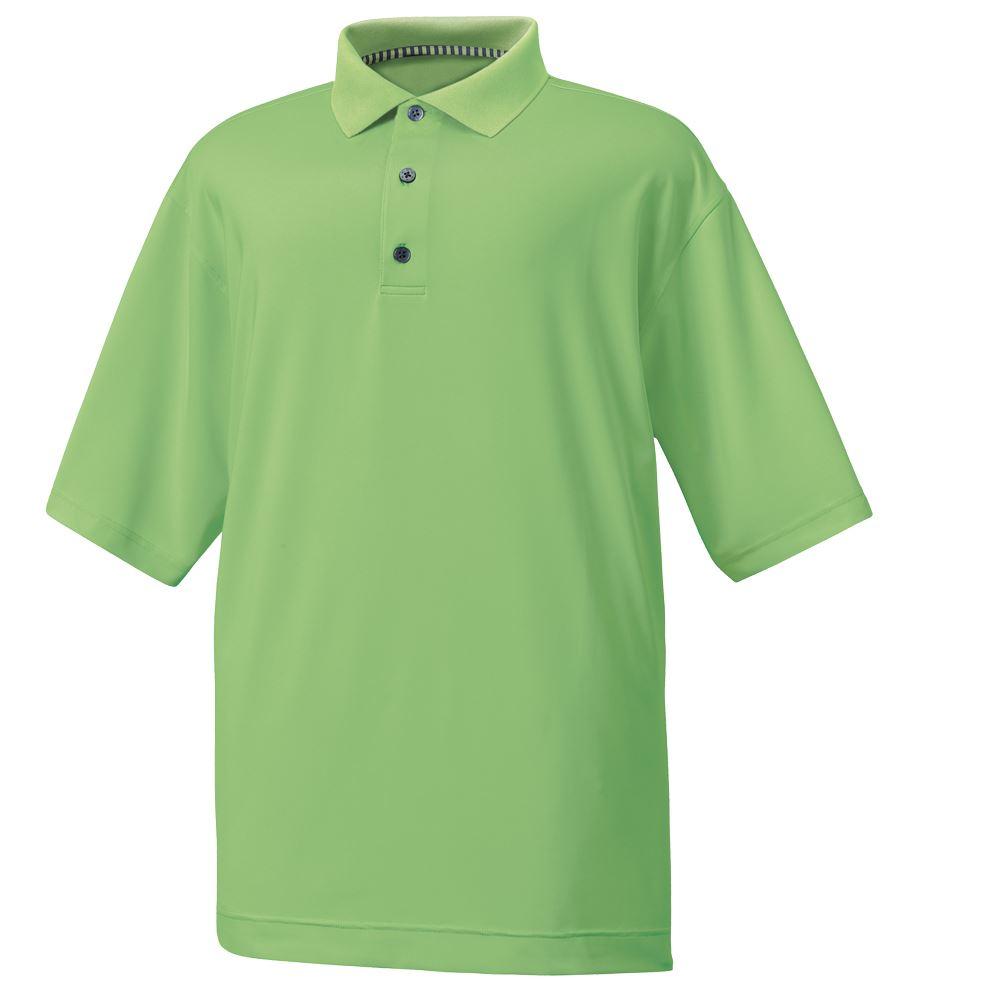 Footjoy mens stretch lisle golf polo shirt european slim for Stretch polo shirt mens