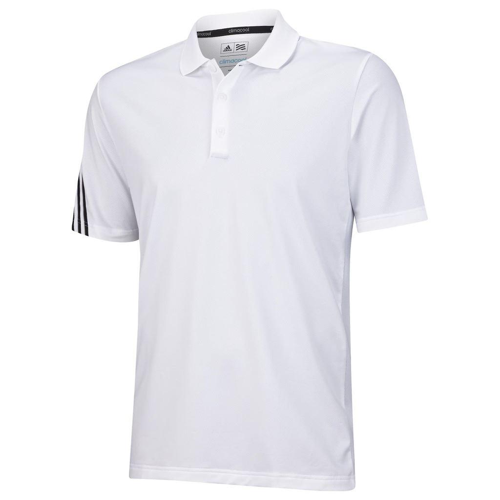 sale adidas golf climacool 3 stripes mens performance golf polo shirt ebay. Black Bedroom Furniture Sets. Home Design Ideas
