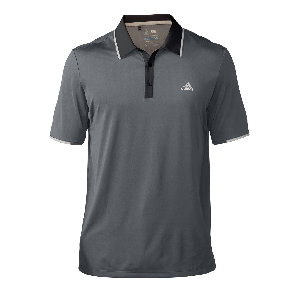New 2016 adidas mens climacool branded performance golf for Branded polo t shirts