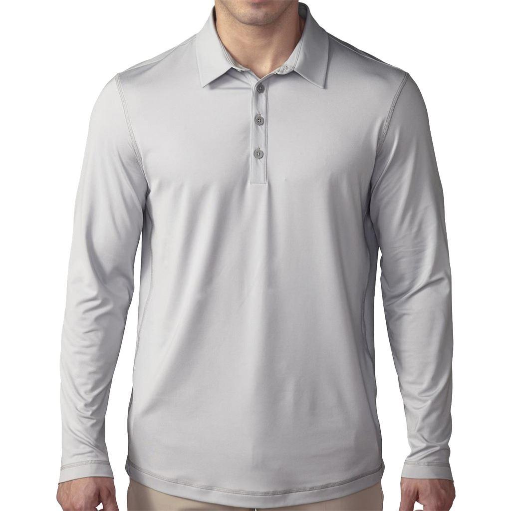 2016 Adidas Climacool Upf Long Sleeve Mens Golf Polo Shirt