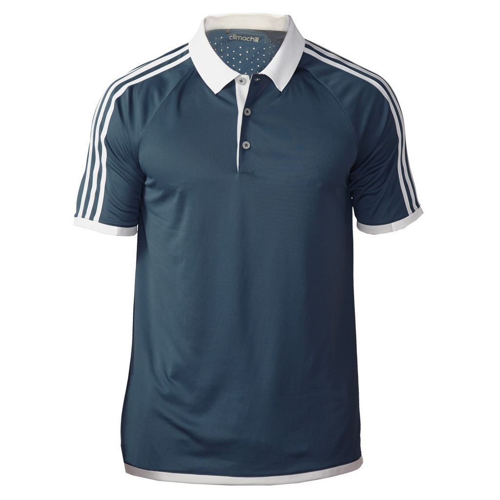 2016 Adidas Mens Climachill 3 Striped Competition Golf