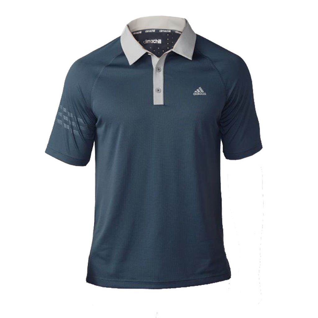 new 2016 adidas mens climachill 3 stripes performance golf polo shirt ebay. Black Bedroom Furniture Sets. Home Design Ideas
