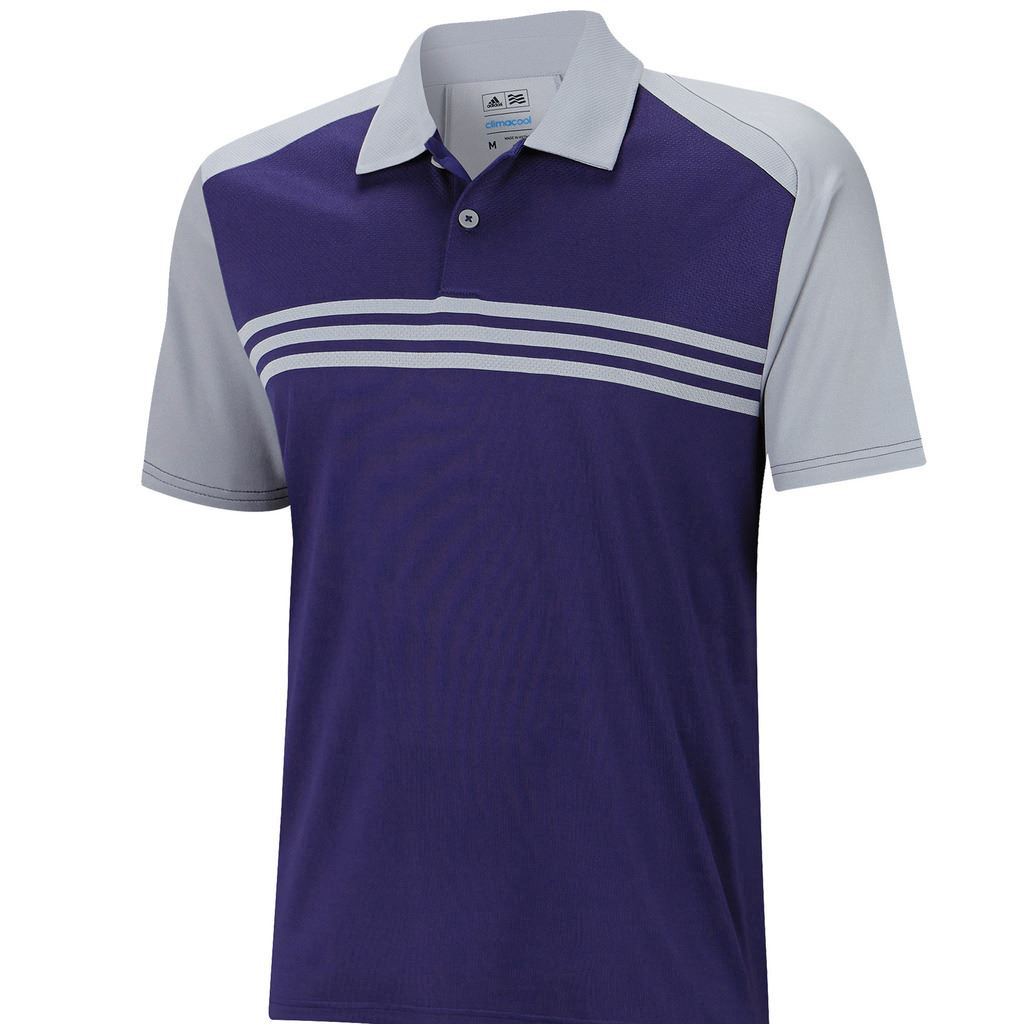 sale adidas climacool sport classic 3 stripes mens golf polo shirt. Black Bedroom Furniture Sets. Home Design Ideas