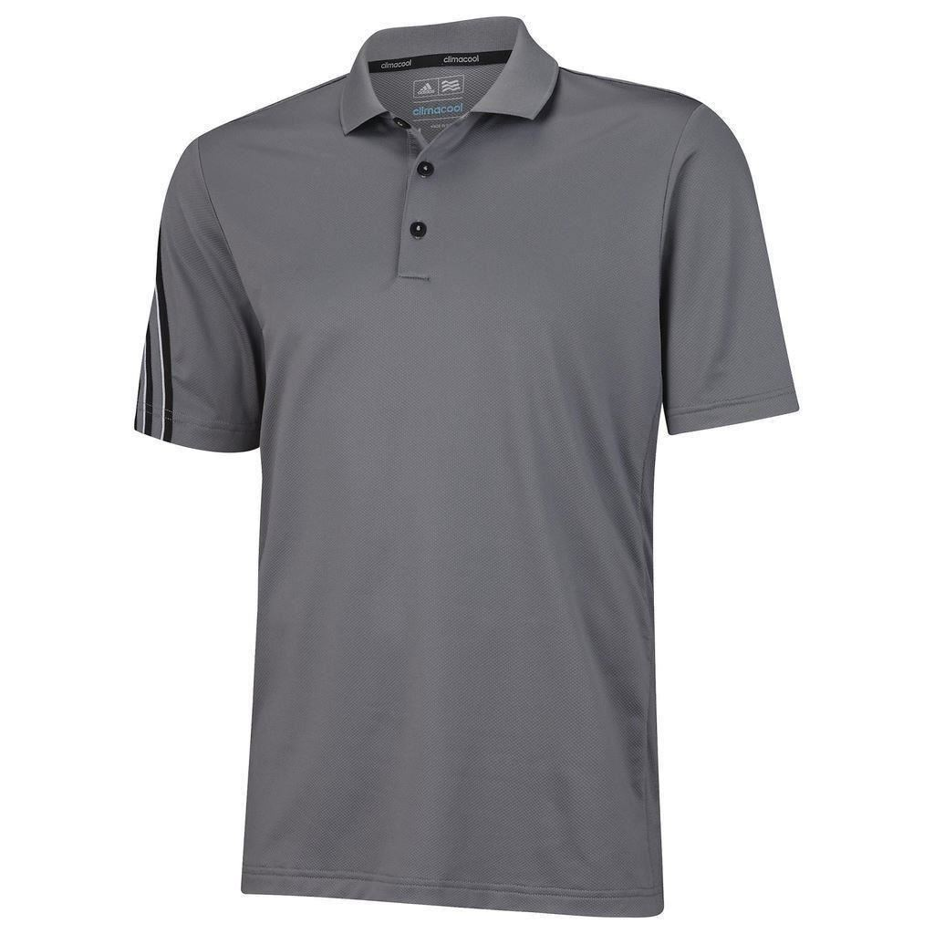 Sale adidas golf climacool 3 stripes mens performance for Polo golf performance shirt