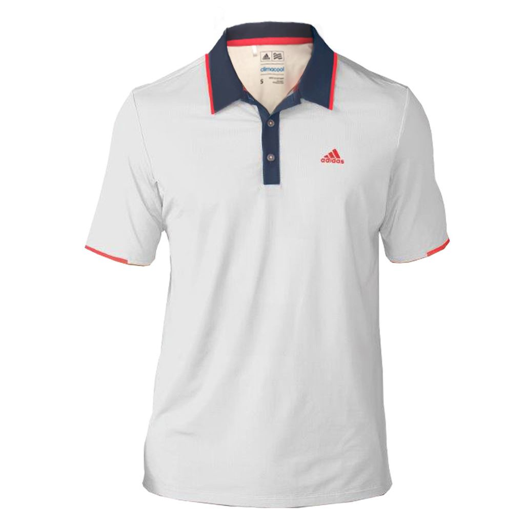 new 2016 adidas mens climacool branded performance golf polo shirt ebay. Black Bedroom Furniture Sets. Home Design Ideas