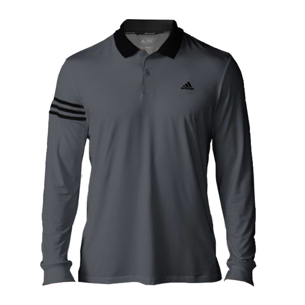New 2016 adidas mens climacool long sleeve upf 3 stripes for Men s upf long sleeve shirt