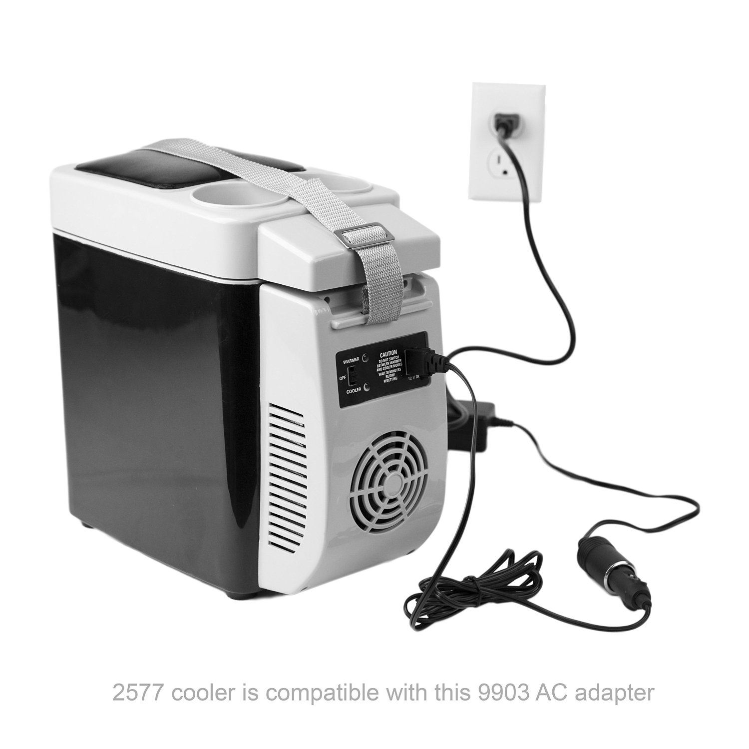 Air Compressor Cooler : Wagan amp ac to v dc power adapter portable cooler