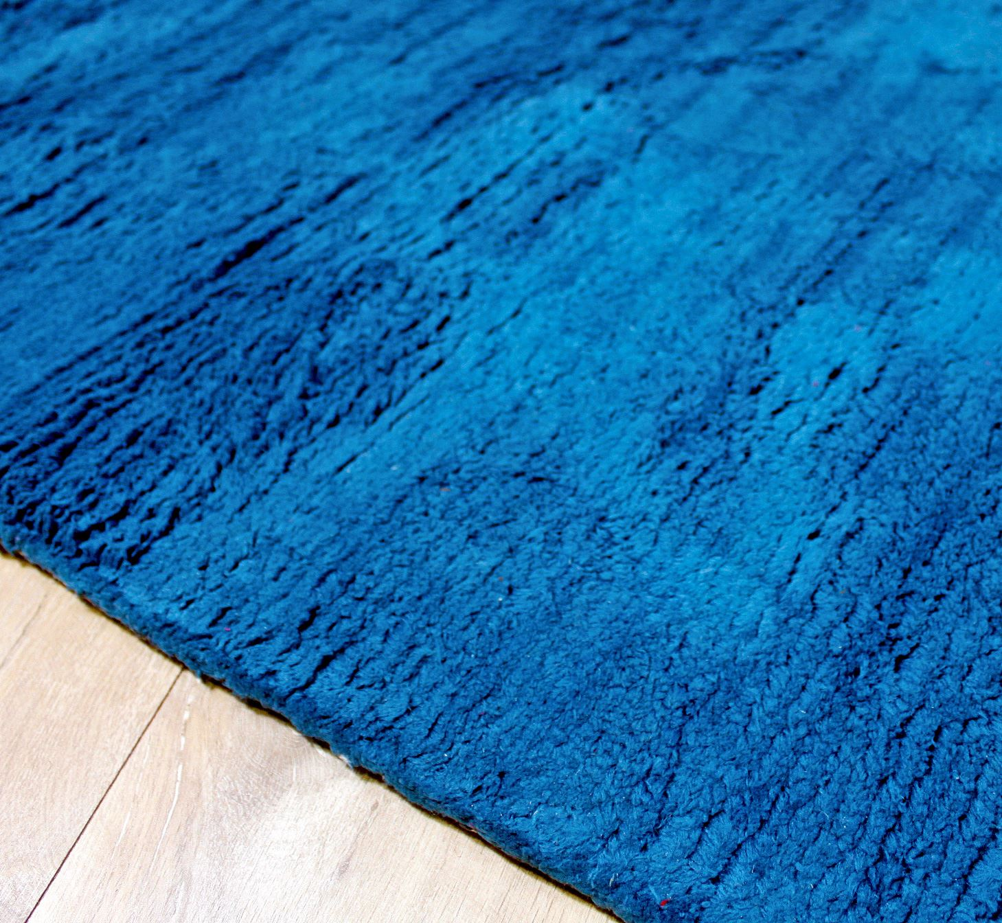 Teal Blue Colour Soft Touch Shag Pile Rug Luxury Pile