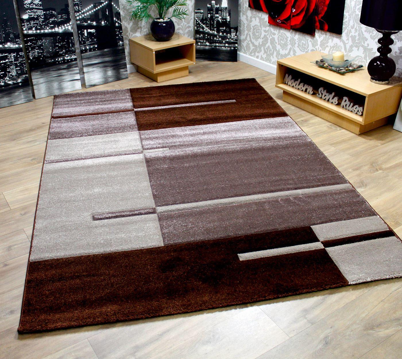 Moderno blocchi design rosso nero bianco grigio verde - Tappeti damascati ...