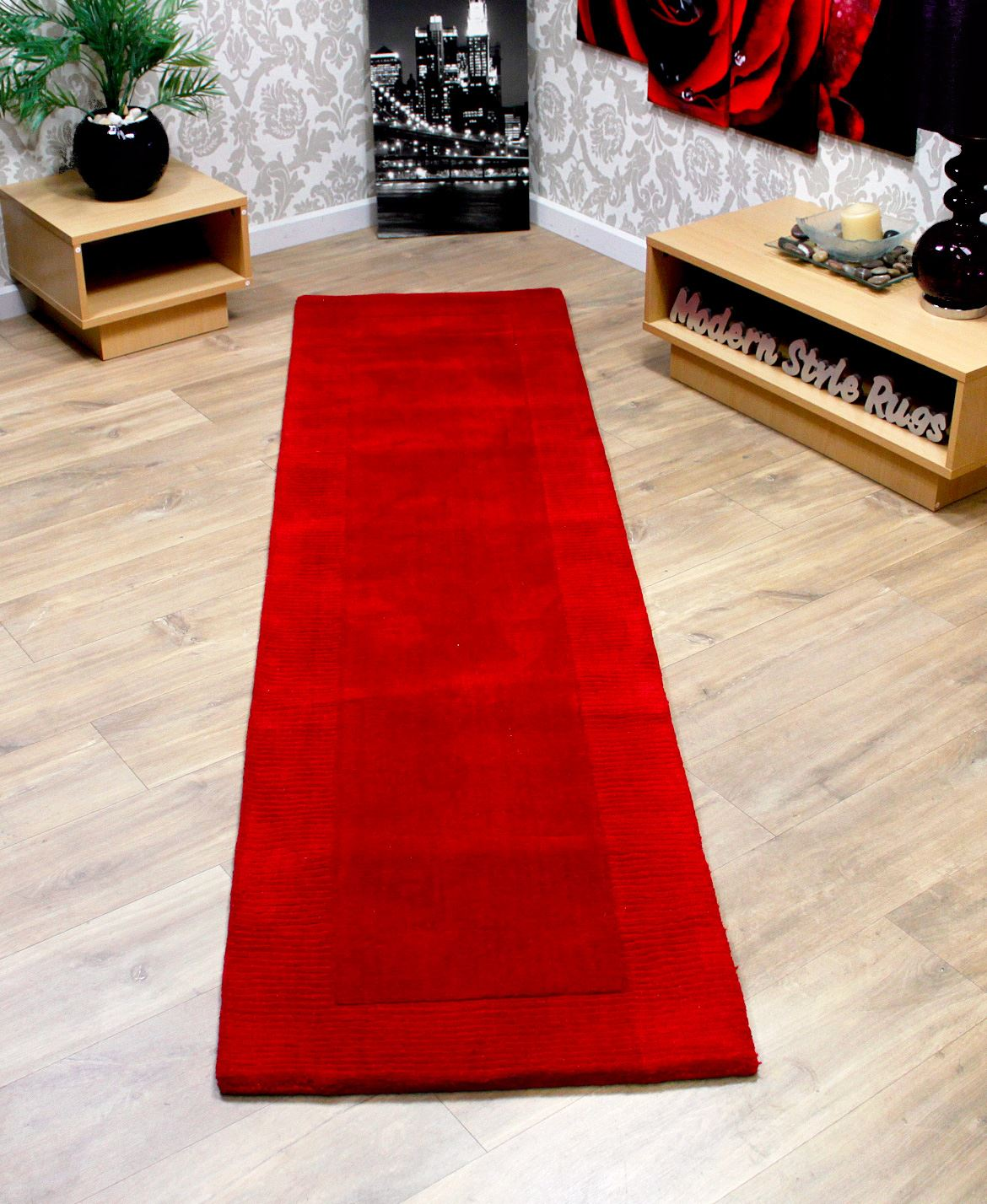 100 wool border thick quality modern long carpet hall way for Contemporary runner rugs for hallway
