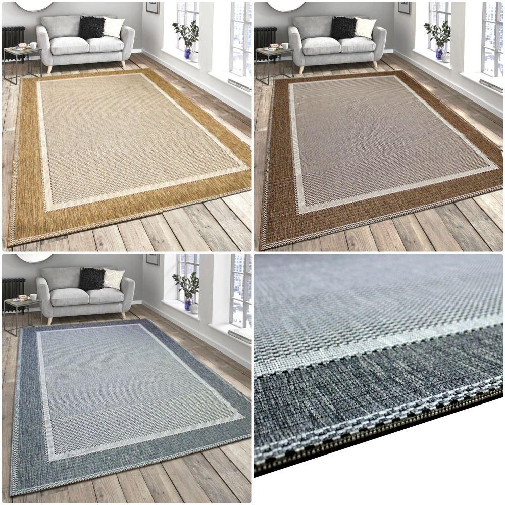 New flatweave border pattern hardwearing indoor outdoor for Indoor outdoor rugs uk
