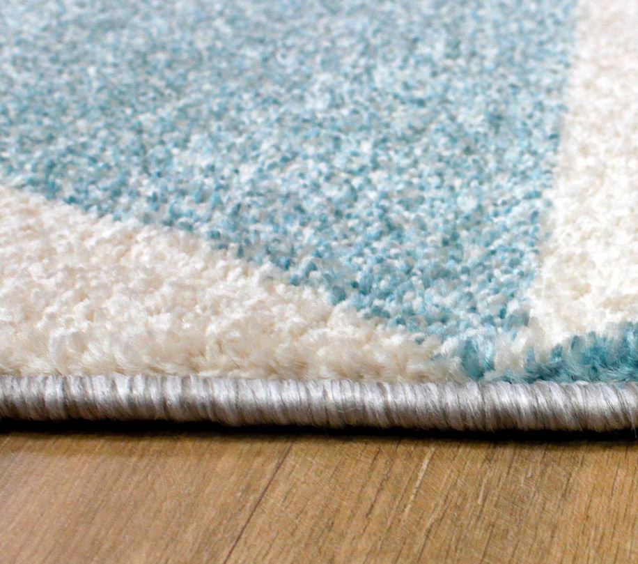 Aztec Diamond Teal Grey Soft Touch Extra Large Modern