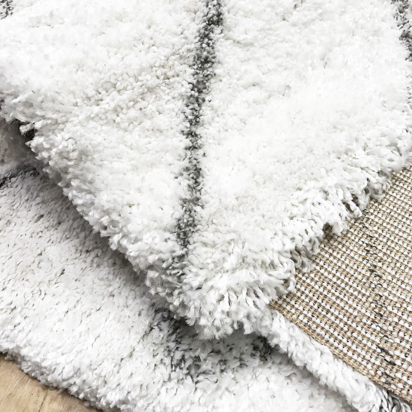 Bianco grigio moderno azteca alta qualit morbido tappeto - Tappeti damascati ...