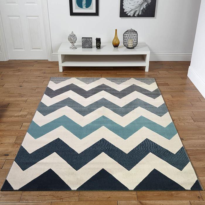 new venus zig zag cream duck egg blue grey extra large. Black Bedroom Furniture Sets. Home Design Ideas