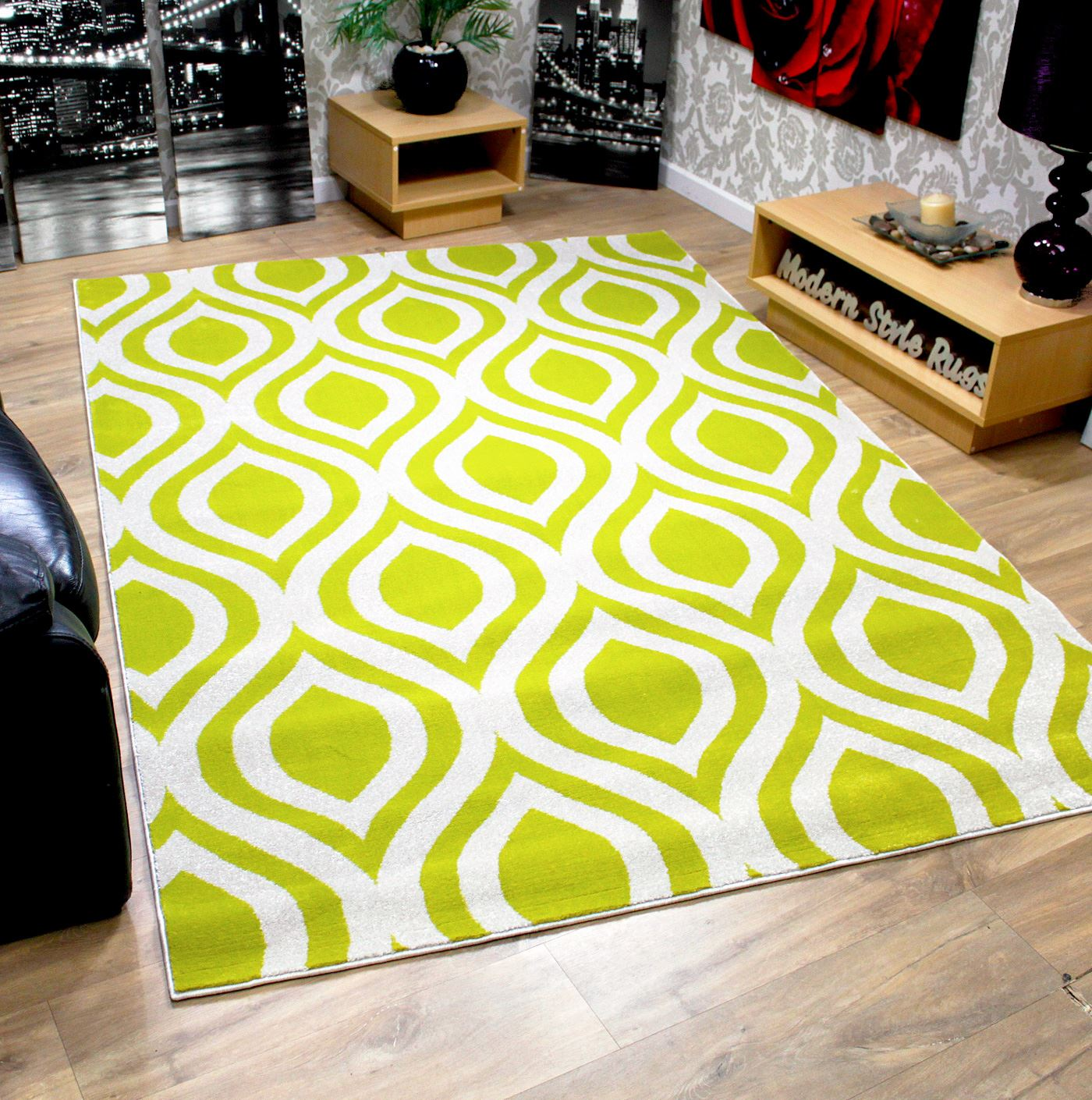 New Modern Comtemporary Designer Soft Touch Rug Orange