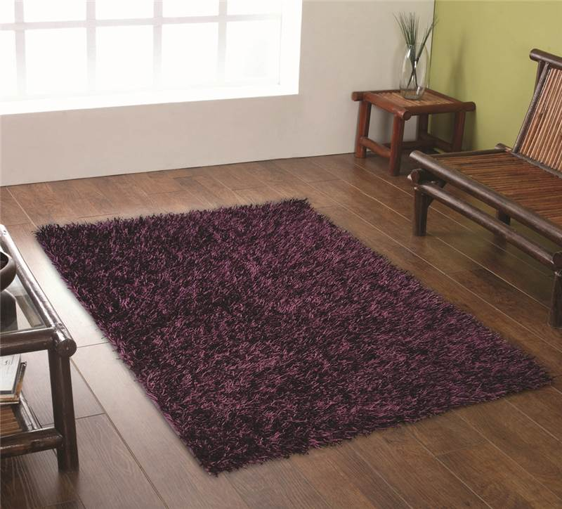 Modern purple aubergine plum colour rugs in large small for Small room rugs