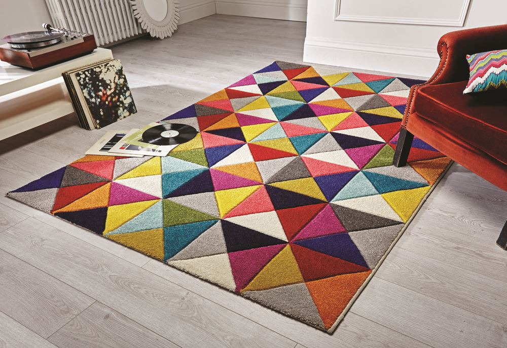 Quality Soft Touch Modern Rugs Multi Colour Designs