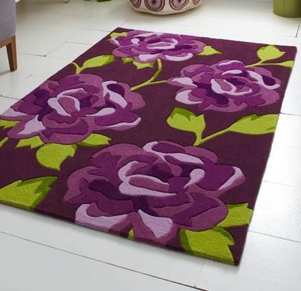 moderne violet aubergine prune couleur tapis en grande petite moyenne pi ce tailles ebay. Black Bedroom Furniture Sets. Home Design Ideas