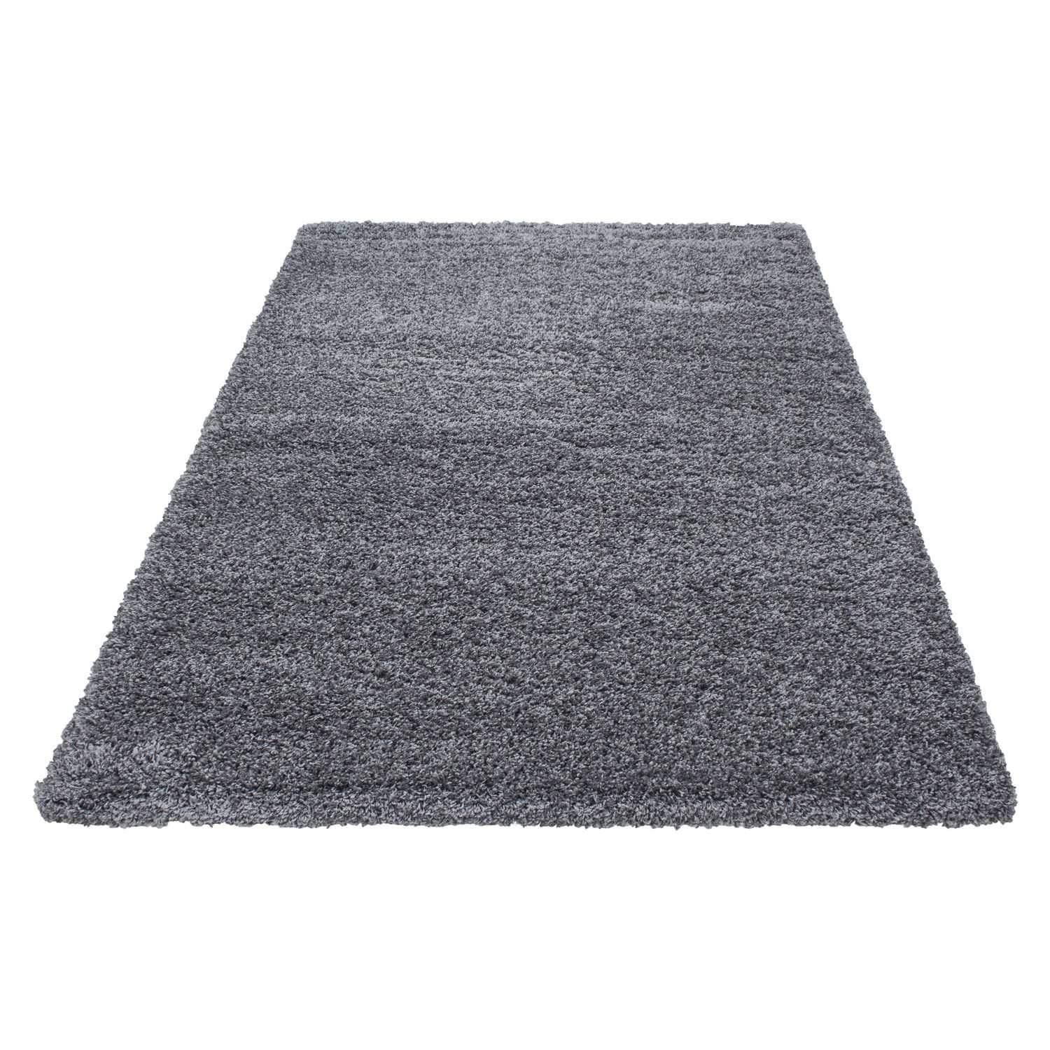 Black And White Extra Large Rug: 5cm Thick Soft Touch Shaggy Shag Pile Rugs Round Runner