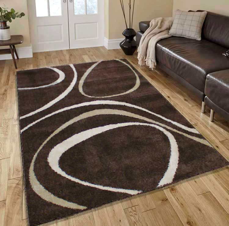Modern Rug Soft: Modern Contemporary Soft Touch Cream Black Red Beige Home