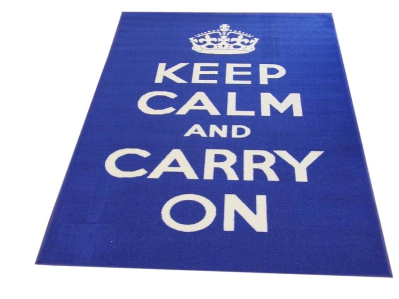 Blue-Keep-Calm-Text-Rug-Matrix-Themes-Carry-On-Beautiful-Design-in-Nylon-Pile