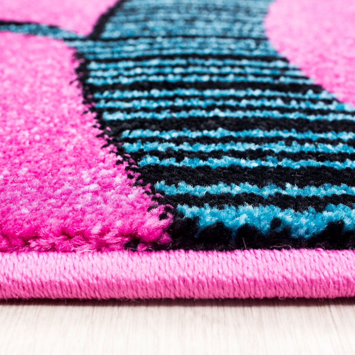Kids Childrens Soft Quality Bedroom Blue Pink Car Rugs