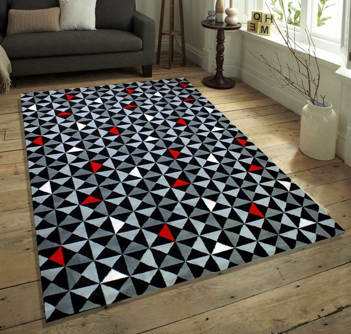 qualit soft touch modern designs tapis tapis noir rouge blanc gris beige marron ebay. Black Bedroom Furniture Sets. Home Design Ideas