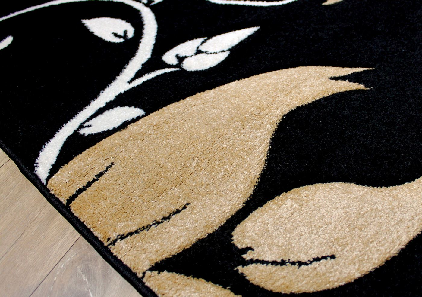 Black and cream rug