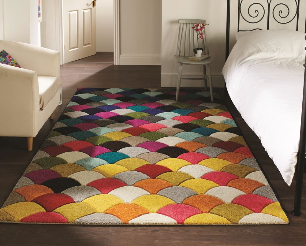 Quality soft touch modern rugs multi colour designs funky for Designer floor rugs