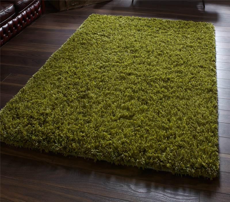 gr n handgetuftet wolle viskose super schweres luxus hochflor teppich ebay. Black Bedroom Furniture Sets. Home Design Ideas
