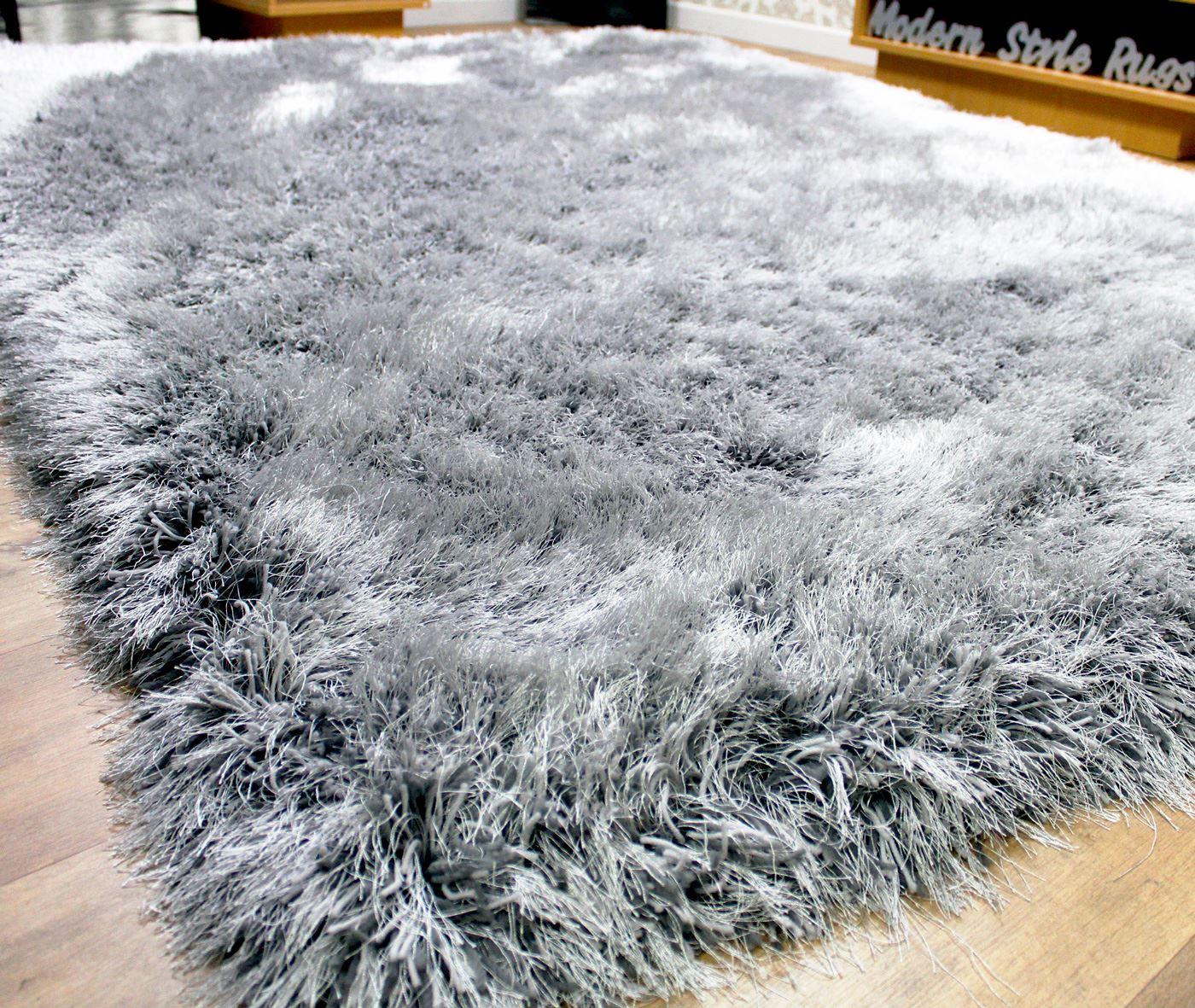 Velvet Soft Rugs In Natural Beige: RRP £249.99+ 9cm Super Plush Mink Beige & Silver Grey