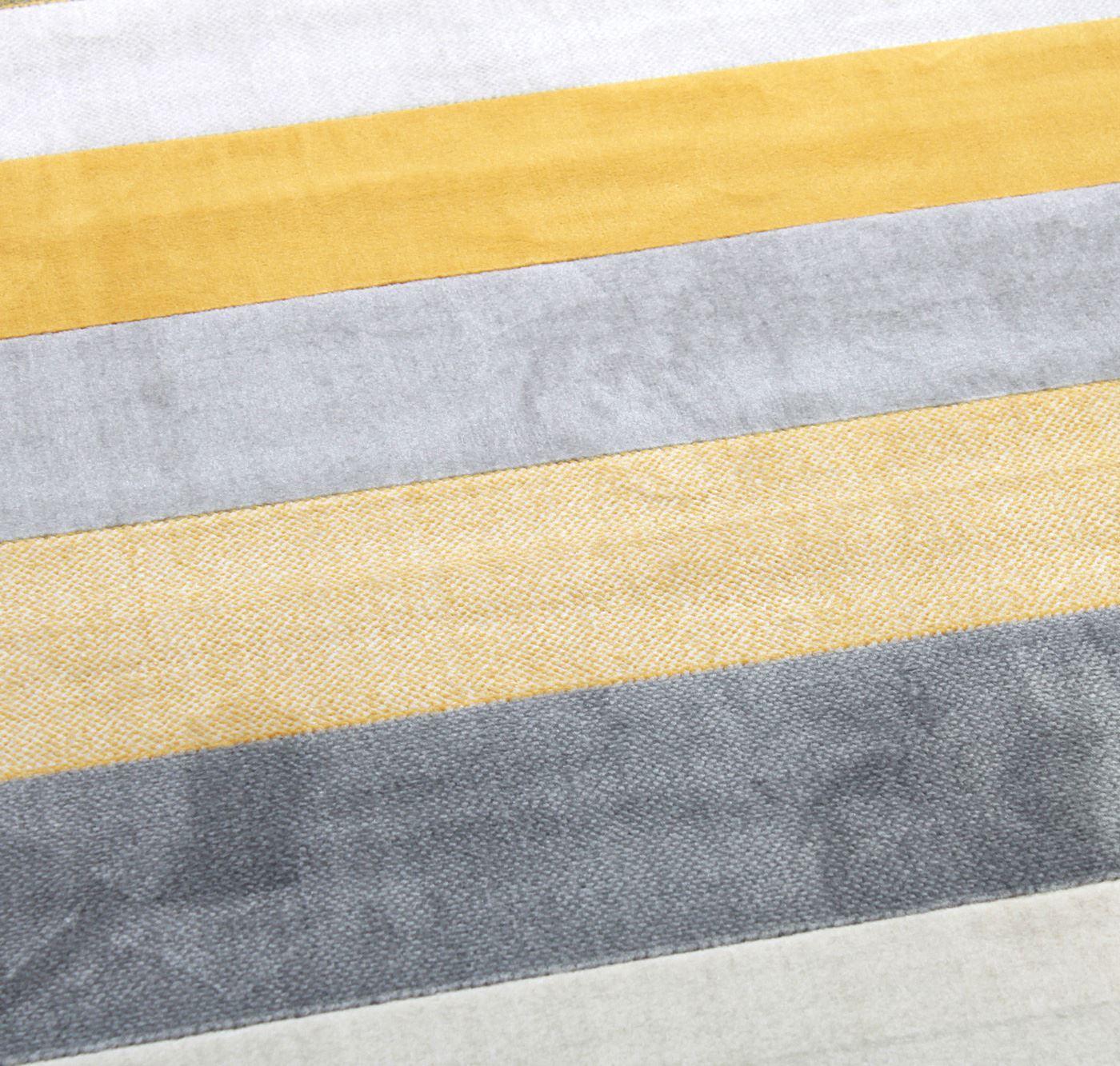 New Venus Stripe Cream Mustard Gold Grey Extra Large