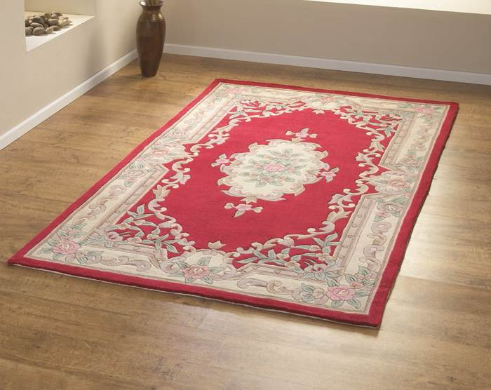 Tapis Rouge Style Traditionnel Oriental Inspire En Laine