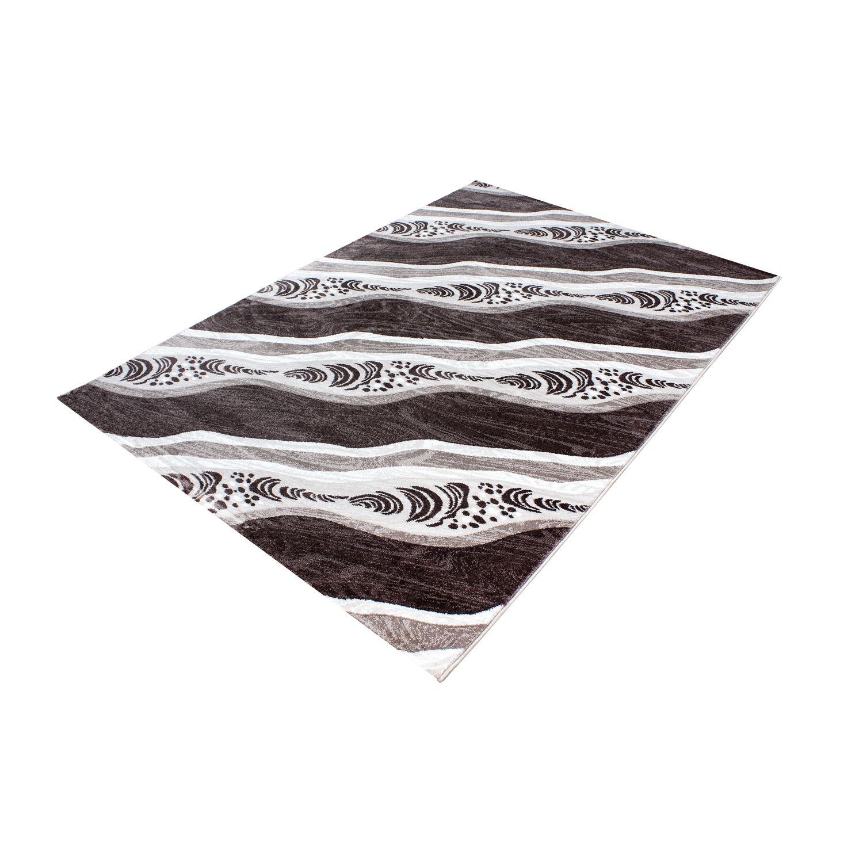 Modern contemporanea quadrate vortici nero rosso beige e - Tappeti damascati ...