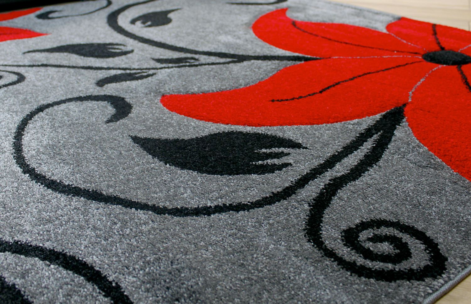 black and red floral rugs