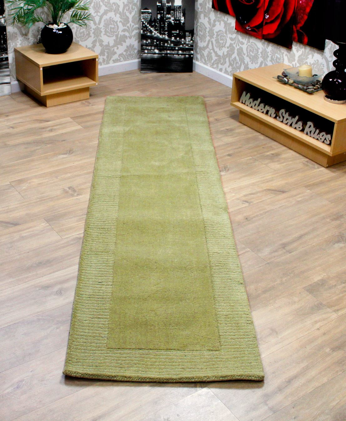 wool border thick quality modern long carpet hall way runner  - woolborderthickqualitymodernlongcarpet