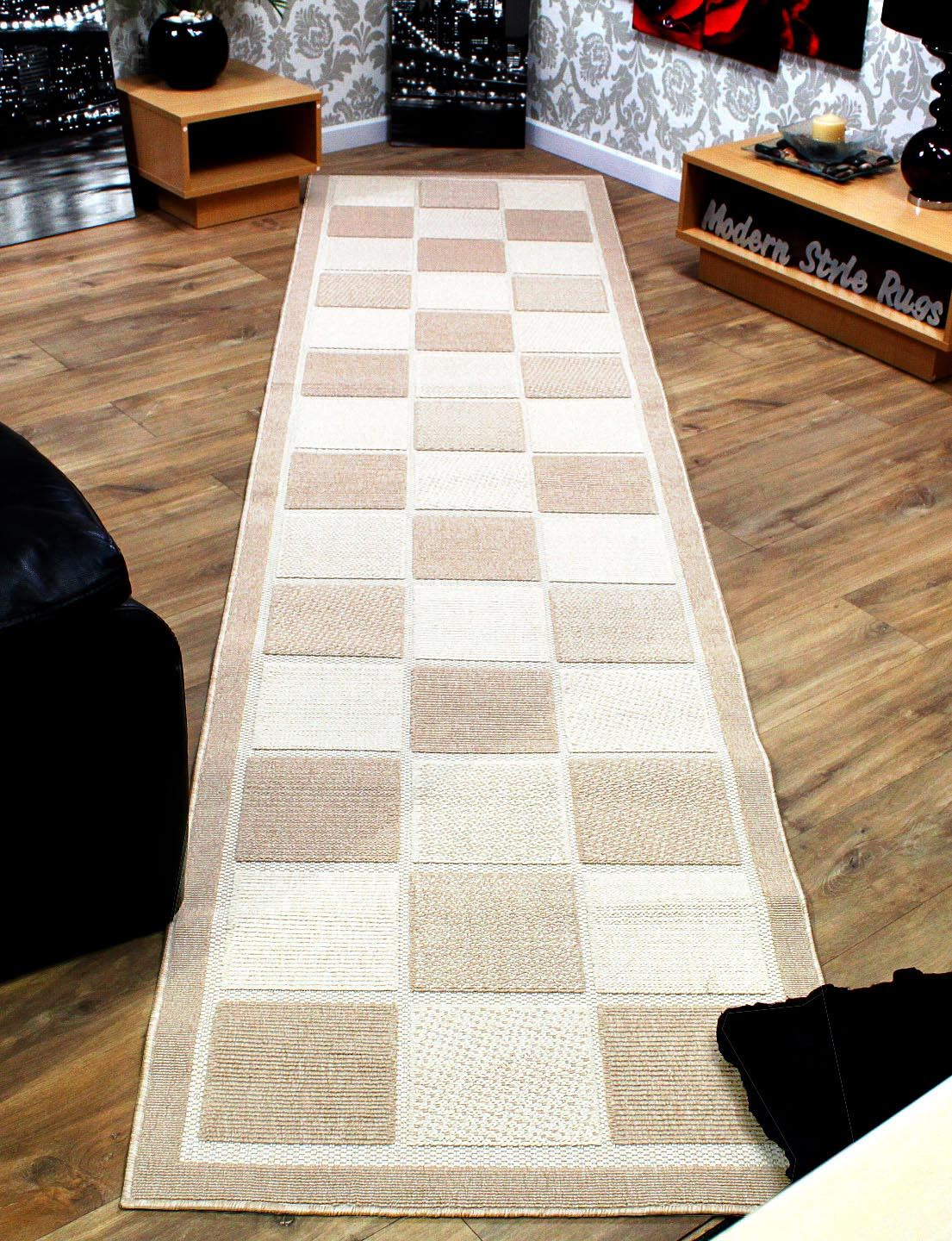 Checkered Brown Or Cream Extra Long Amp Extra Wide